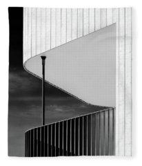 Curved Balcony Fleece Blanket