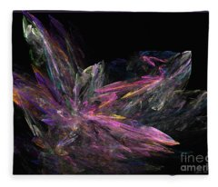 Deep Crystallization - Abstract Art Fleece Blanket