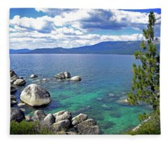 Deep Waters Lake Tahoe Fleece Blanket