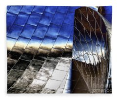 Disney Hall Architectural Fleece Blanket