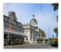 Downtown Kingston Fleece Blanket
