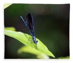Dragonfly Fly Fleece Blanket