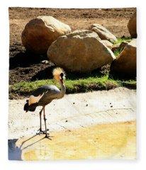East African Crowned Crane Fleece Blanket