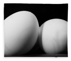 Eggs In Black And White Fleece Blanket