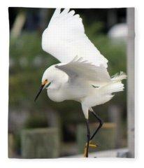 Egret Ballet Fleece Blanket