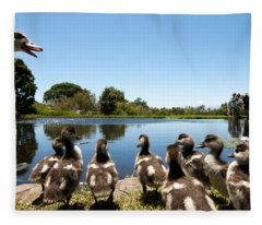 Egyptian Geese Fleece Blanket