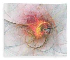 Electric Blossom Fleece Blanket