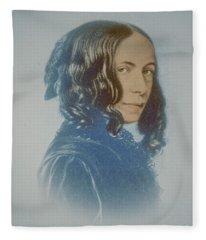 Elizabeth Barrett Browning, English Poet Fleece Blanket