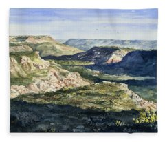 Evening Flight Over Palo Duro Canyon Fleece Blanket