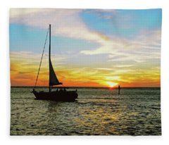 Evening Sailing Fleece Blanket