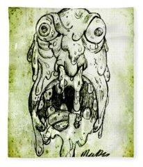 Evil Snot Monster Fleece Blanket