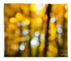 Fall Forest In Sunshine Fleece Blanket