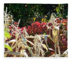 Fall Harvest Of Color Fleece Blanket