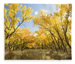 Fall Leaves In New Mexico Fleece Blanket