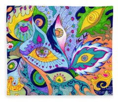 Fantas Eyes Fleece Blanket