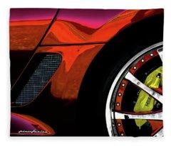 Ferrari Wheel Detail Fleece Blanket