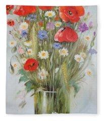 Field Flowers Fleece Blanket