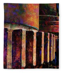 Fiery Glow Fleece Blanket