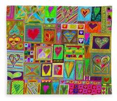 find U'r Love found    v15 Fleece Blanket