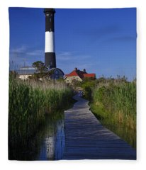 Fire Island Reflection Fleece Blanket