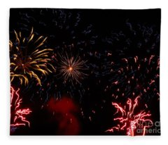 Fireworks At Oshkosh Airventure 2012. 01 Fleece Blanket