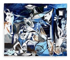Fish Guernica Fleece Blanket