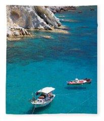 Fishing Boats 2  Fleece Blanket