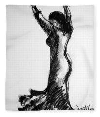 Flamenco Sketch 3 Fleece Blanket
