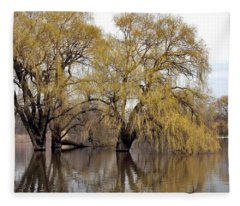 Flooded Trees Fleece Blanket