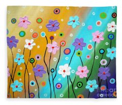 Floral Fest Fleece Blanket