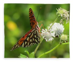 Florida Butterfly Fleece Blanket