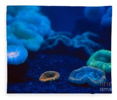 Fluorescent Corals Fleece Blanket