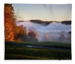 Foggy Dawn Fleece Blanket