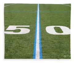Football Field Fifty Fleece Blanket