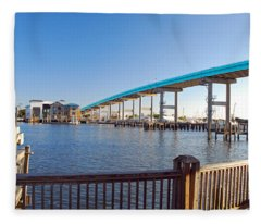 Fort Myers Bridge Fleece Blanket