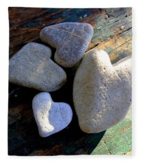Four Stone Hearts Fleece Blanket