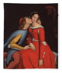 Francesca Da Rimini And Paolo Malatestascene  Fleece Blanket