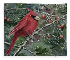 Franci's Cardinal Fleece Blanket