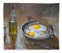 Fried Eggs Fleece Blanket