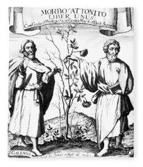 Galen And Hippocrates, Greek Physicians Fleece Blanket