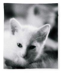 Ghost Kitties Fleece Blanket