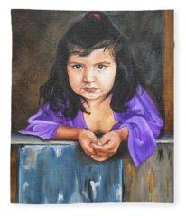Girl From San Luis Fleece Blanket