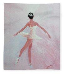 Glowing Ballerina Original Palette Knife  Fleece Blanket