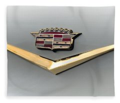 Gold Badge Cadillac Fleece Blanket