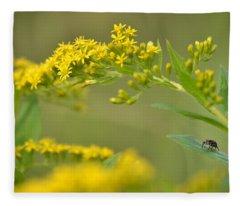 Golden Perch Fleece Blanket