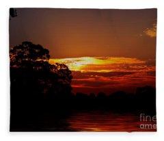 Golden Pond Fleece Blanket