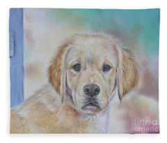 Golden Puppy Fleece Blanket