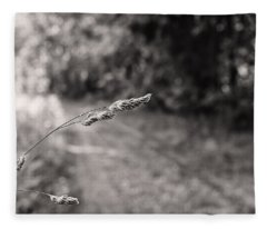 Grass Over Dirt Road Fleece Blanket