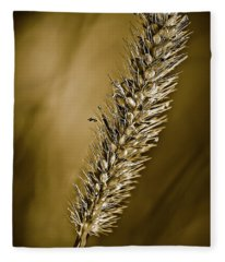 Grass Seedhead Fleece Blanket