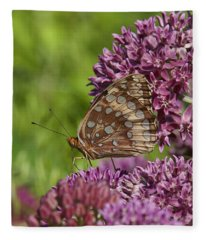Great Spangled Fritillary Din194 Fleece Blanket